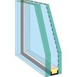 dual glazed window section